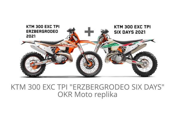 """KTM 300 EXC TPI """"ERZBERGRODEO SIX DAYS"""" 2021 OKR Moto replika (limitka z limitiek)"""