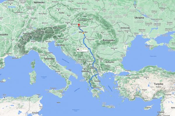 KTM Greece Rally 2021 - Cesta OKR Moto do gréckeho mesta Náfpaktos