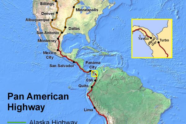 Najdlhšia (moto) cesta na svete je Panamerická magistrála. Má 48000 kilometrov