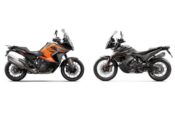 Porovnávací test motocyklov KTM 890 Adventure a KTM 1290 SUPER ADVENTURE S 2021