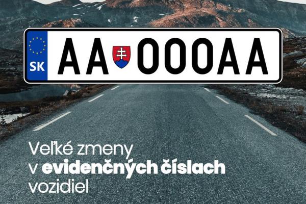 Slovenská ŠPZ bude od marca 2022 vyzerať úplne inak ako teraz